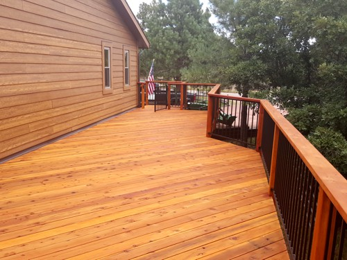 Deck Pressure Washed and Sealed in Colorado Springs