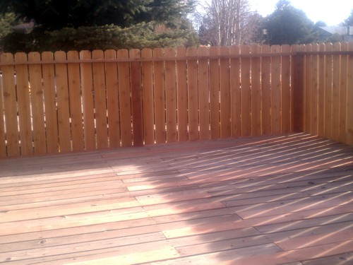 Privacy Fence added to Deck in Colorado Springs