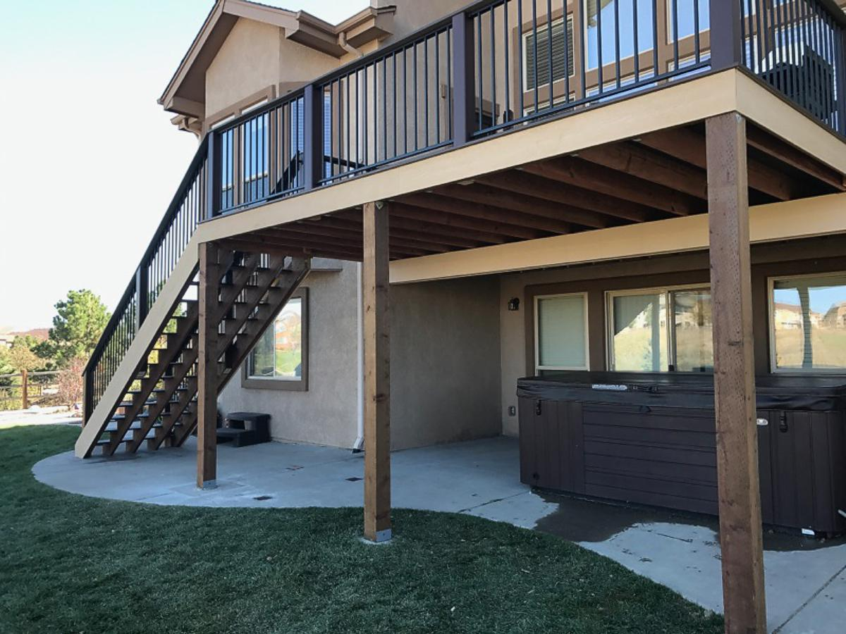 Composite Deck Gallery Colorado Springs By O Leary And Sons