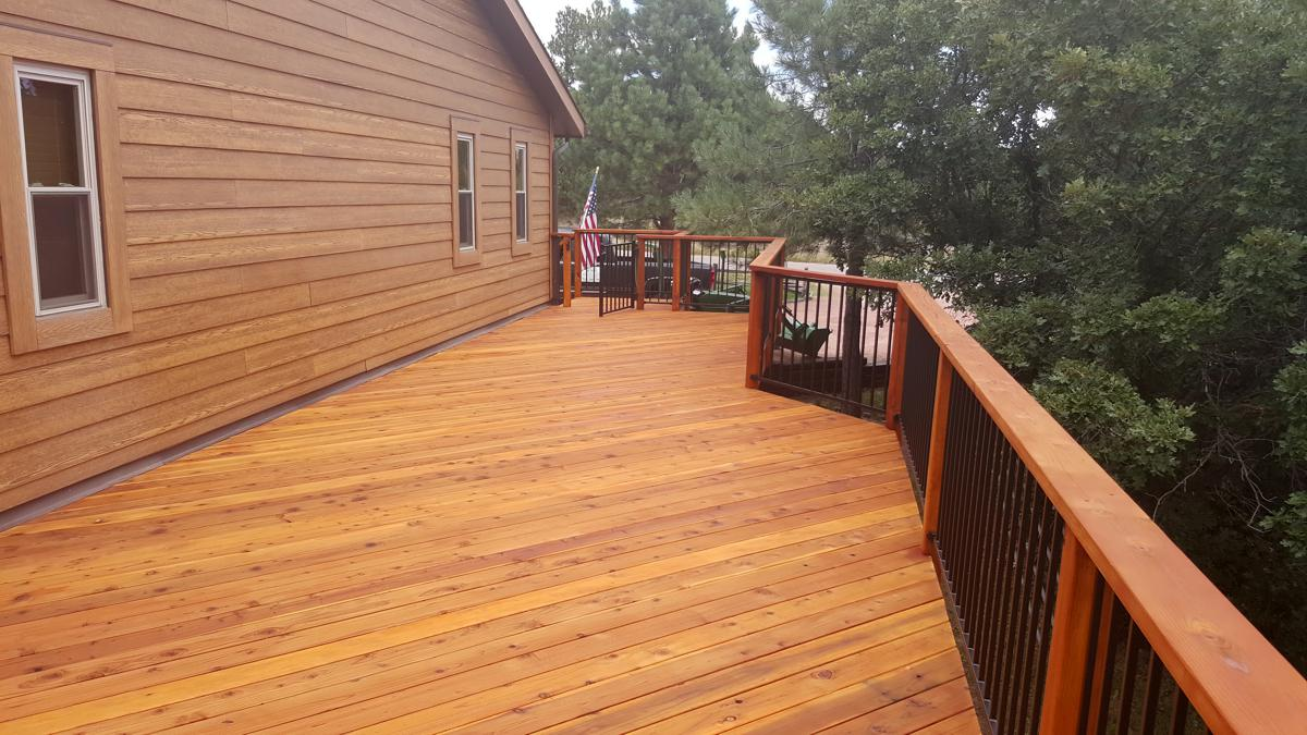Wood Decks With Metal Rail Gallery Colorado Springs By O