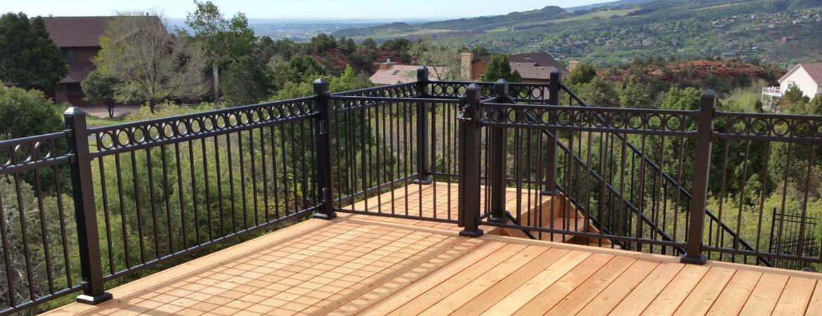 Wood Decks with Metal Rail Gallery, Colorado Springs