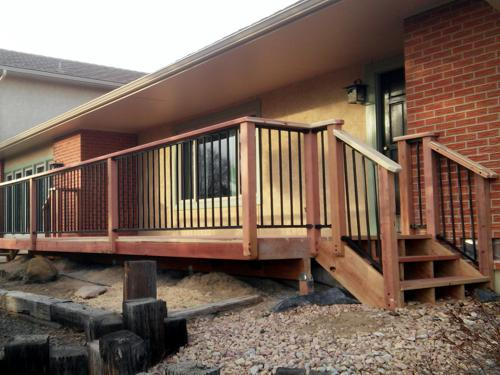 Wood Decks with Metal Rail in Colorado Springs