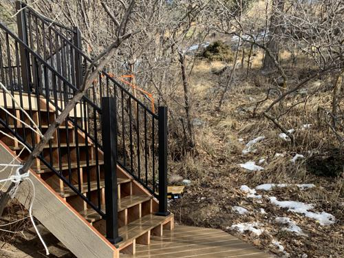 New deck construction in Colorado Springs